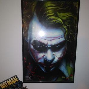 💣Large Signed Original Joker Framed Art 💣